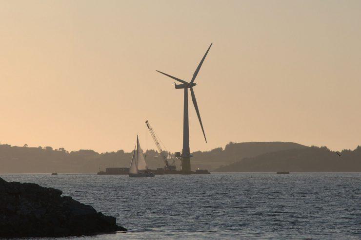 A floating wind farm