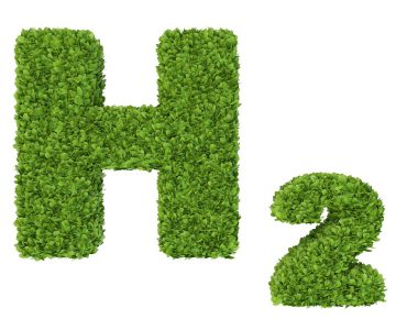 chemical symbol for hydrogen made from grass