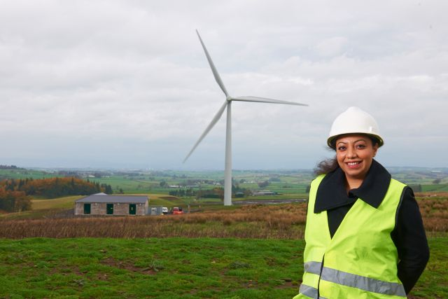 Sadia Maqsood on windfarm