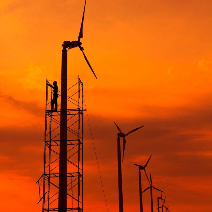 wind turbine scaffolding