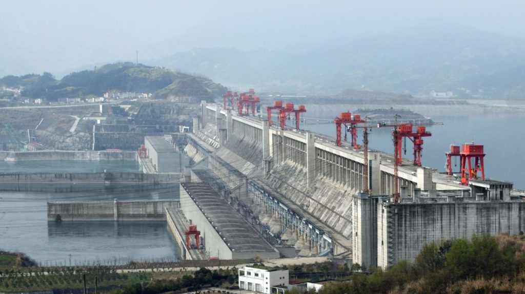 The Yangtze river dam