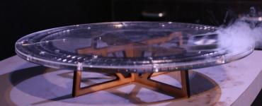 A close up of a maglev experiment