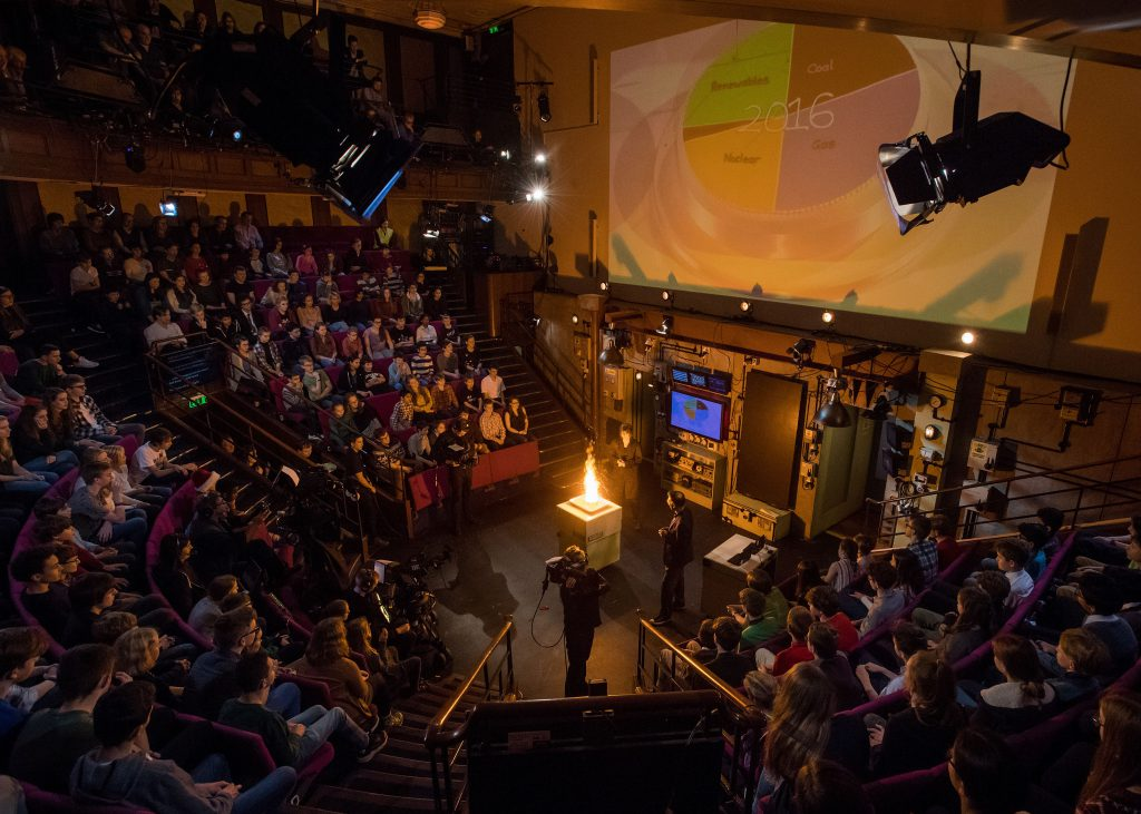 Filming the Royal Institution Christmas Lecture. Photo by Paul Wilkinson.