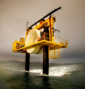 Tidal energy machine