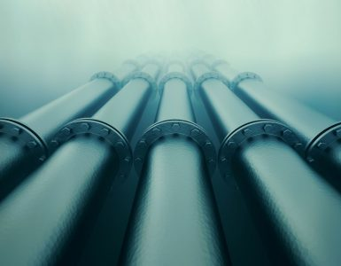 Underwater gas pipes